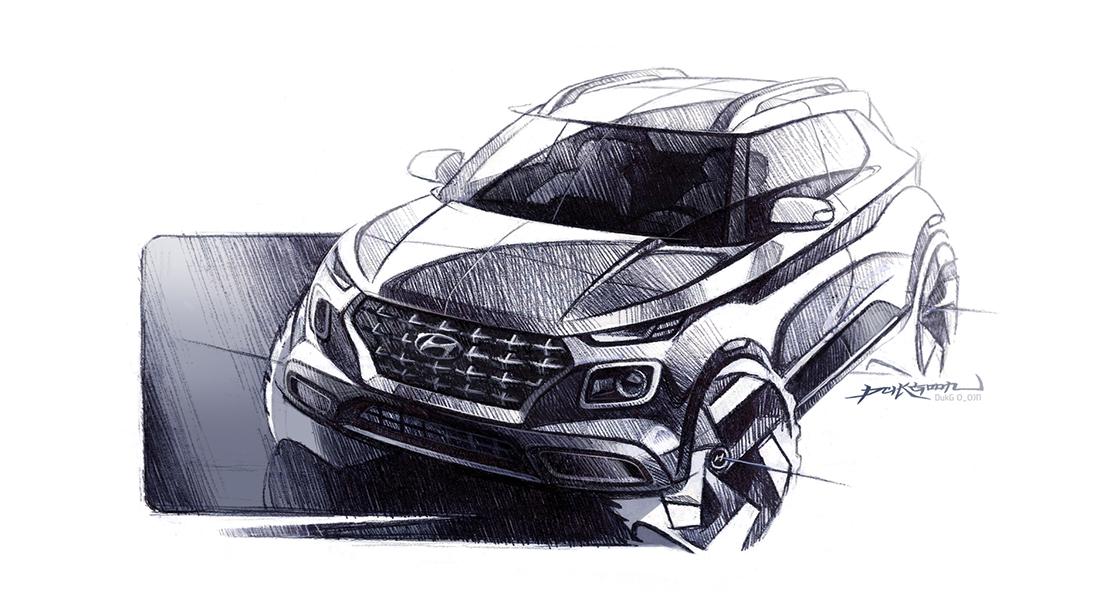 Hyundai Venue Sketch