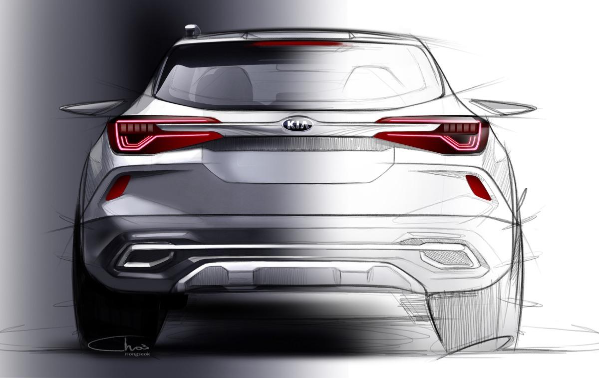 Kia Motors New Global Compact SUV Rear Sketch