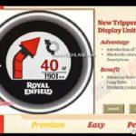 Royal Enfield Meteor 350 Leaked Brochure Tripper Navigation Display