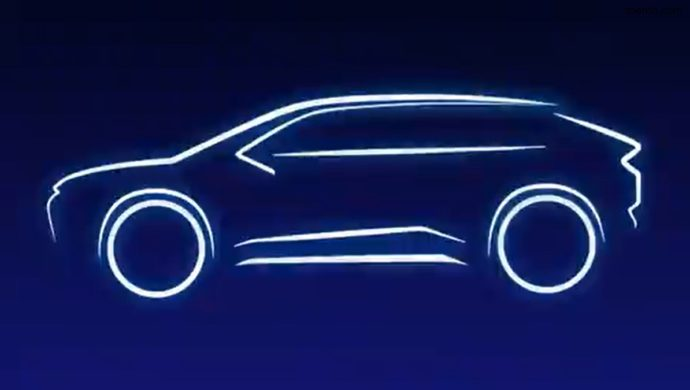 Teaser Of Toyota's First Electric Suv